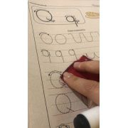De A a Z: Bastao para cursiva- passo a passo
