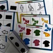 Grudando Formas, Símbolos e Cores - com régua de seriação