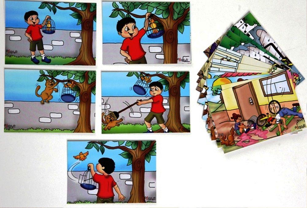 Histórias em Sequência A (04 jogos, 16 quadros)