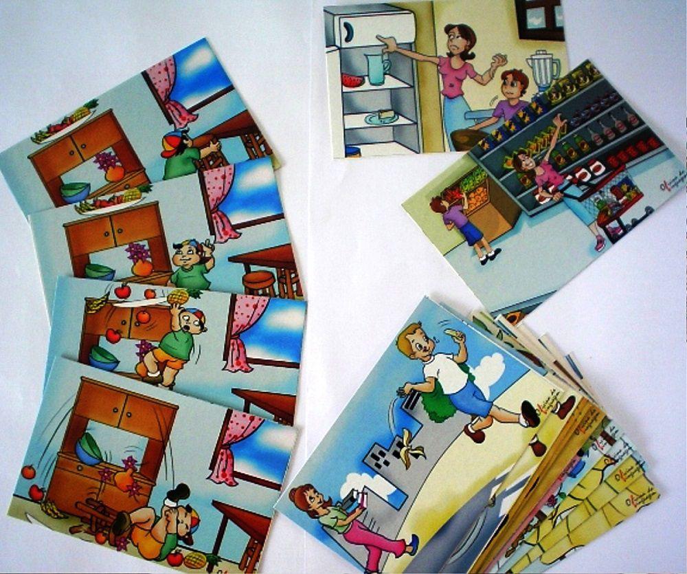 Histórias em Sequência B (05 jogos, 16 quadros) 15x10cm)