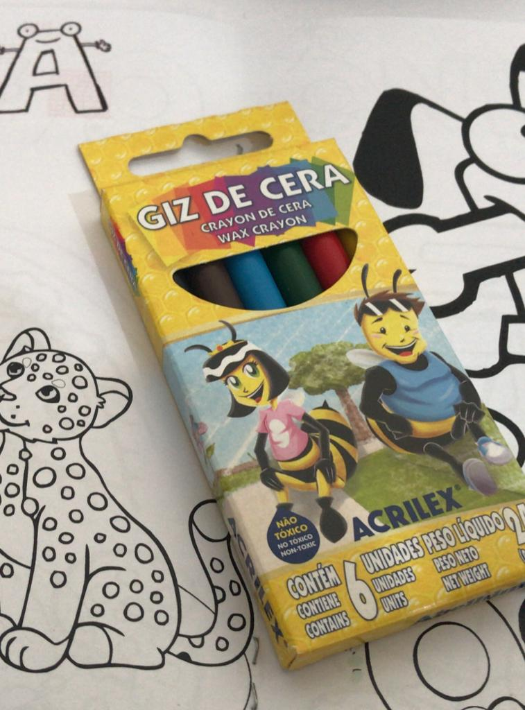 Livro de Colorir - Vogal A