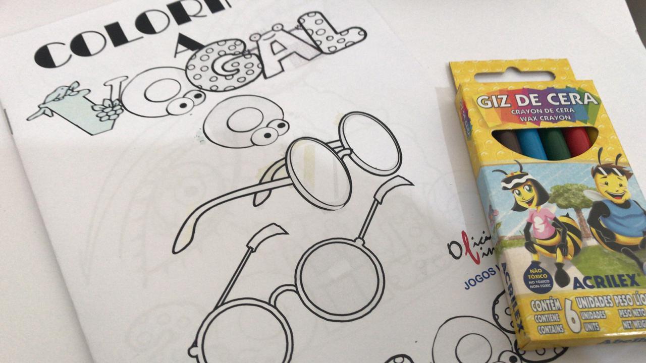 Livro de Colorir - Vogal O