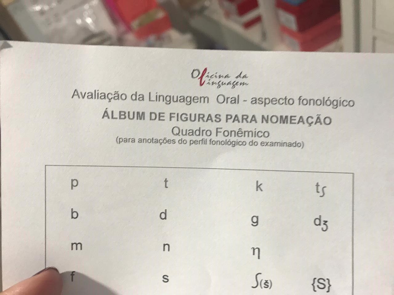 Protocolo de Registro de Avaliação da Linguagem Oral