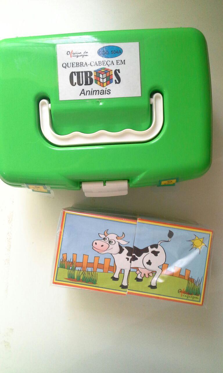 Quebra-Cabeça em Cubos: Animais (2 cubos)