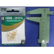 Anzol 16902 Crystal Dourado nº 16 - 50 unidades
