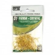 Anzol 16902 Crystal Dourado nº 1 - 50 unidades
