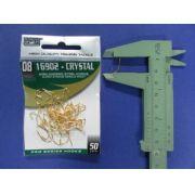 Anzol 16902 Crystal Dourado nº 8 - 50 unidades
