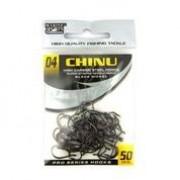 Anzol Chinu Black Nickel nº 4 - 50 unidades