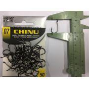 Anzol Chinu Black Nickel nº 7 - 50 unidades