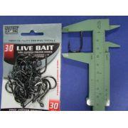 Anzol Live Bait Hook nº 3/0 - 30 unidades