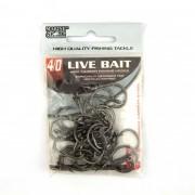 Anzol Live Bait Hook nº 4/0 - 30 unidades