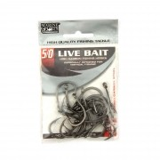 Anzol Live Bait Hook nº 5/0 - 20 unidades