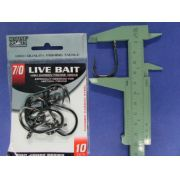 Anzol Live Bait Hook nº 7/0 - 10 unidades