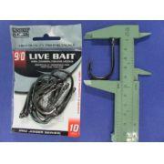 Anzol Live Bait Hook nº 9/0 - 10 unidades