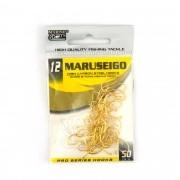 Anzol Maruseigo Gold nº 12 - 50 unidades
