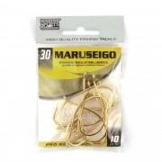 Anzol Maruseigo Gold nº 30 - 10 unidades