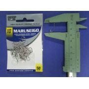 Anzol Maruseigo Nickel nº 10 - 50 unidades