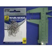 Anzol Maruseigo Nickel nº 12 - 50 unidades