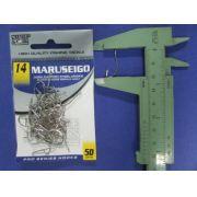 Anzol Maruseigo Nickel nº 14 - 50 unidades