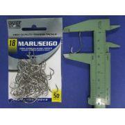 Anzol Maruseigo Nickel nº 18 - 50 unidades