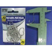 Anzol Maruseigo Nickel nº 20 - 25 unidades