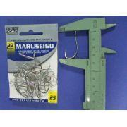 Anzol Maruseigo Nickel nº 22 - 25 unidades