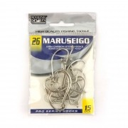 Anzol Maruseigo Nickel nº 26 - 15 unidades