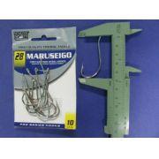 Anzol Maruseigo Nickel nº 28 - 10 unidades