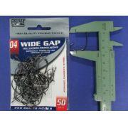 Anzol Wide Gap BlackNickel Robalo nº 4 - 50 unidades