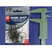 Anzol Wide Gap BlackNickel Robalo nº 6 - 50 unidades