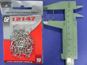 Anzol 12147 nº 2 - 50 unidades  - Artpesca