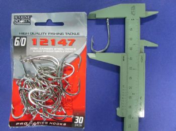 Anzol 12147 nº 6/0 - 30 unidades  - Artpesca