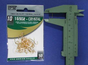 Anzol 16902 Crystal Dourado nº 10 - 50 unidades  - Artpesca
