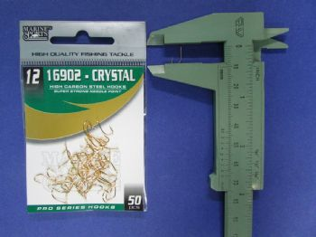 Anzol 16902 Crystal Dourado nº 12 - 50 unidades  - Artpesca