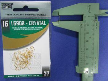 Anzol 16902 Crystal Dourado nº 16 - 50 unidades  - Artpesca