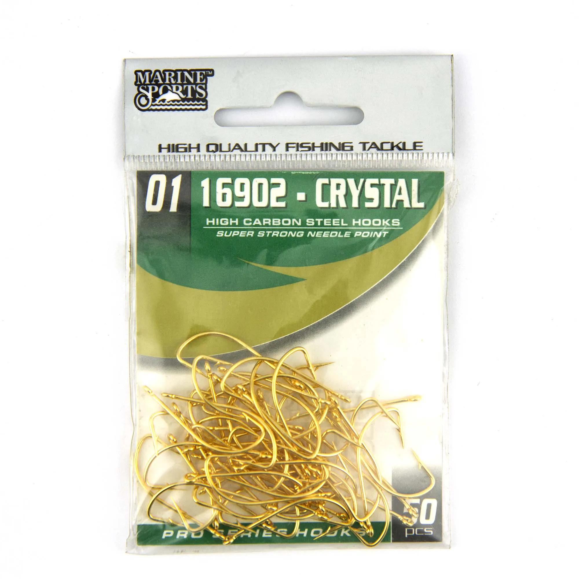Anzol 16902 Crystal Dourado nº 1 - 50 unidades  - Artpesca