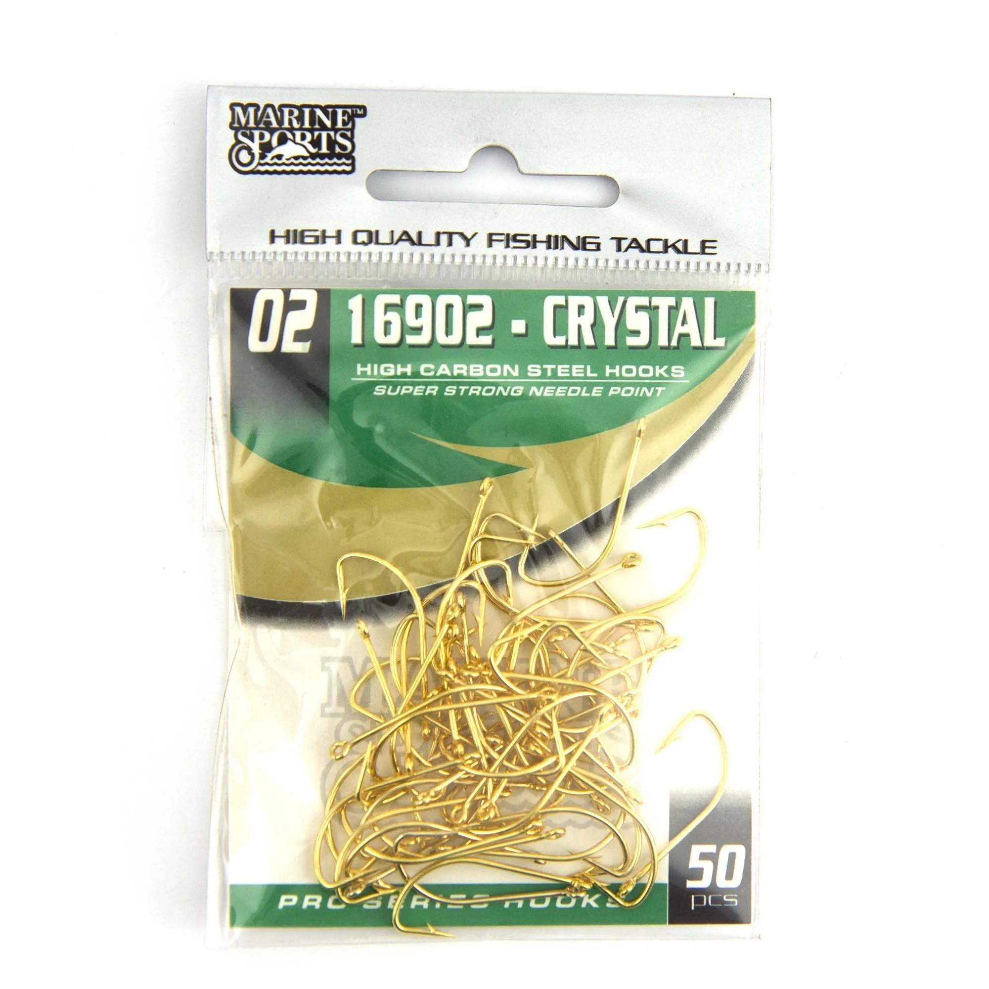 Anzol 16902 Crystal Dourado nº 2 - 50 unidades  - Artpesca