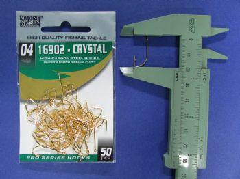 Anzol 16902 Crystal Dourado nº 4 - 50 unidades  - Artpesca