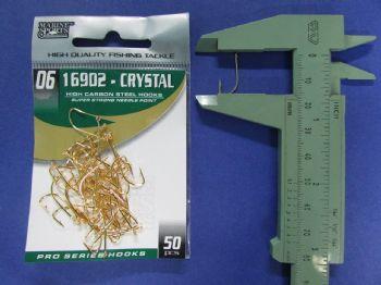 Anzol 16902 Crystal Dourado nº 6 - 50 unidades  - Artpesca