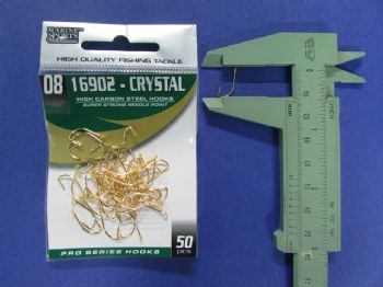 Anzol 16902 Crystal Dourado nº 8 - 50 unidades  - Artpesca