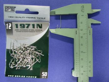 Anzol 1971N nº 12 - 50 unidades  - Artpesca