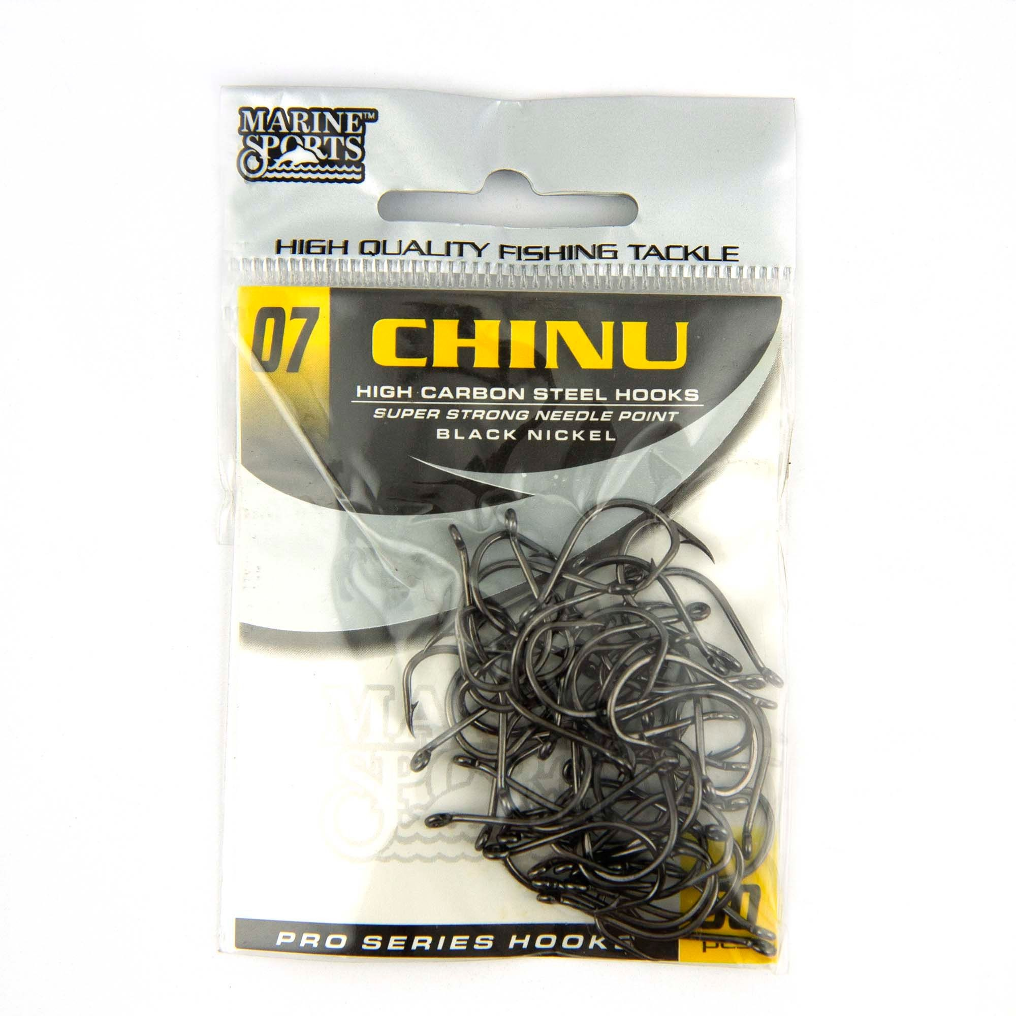 Anzol Chinu Black Nickel nº 7 - 50 unidades  - Artpesca
