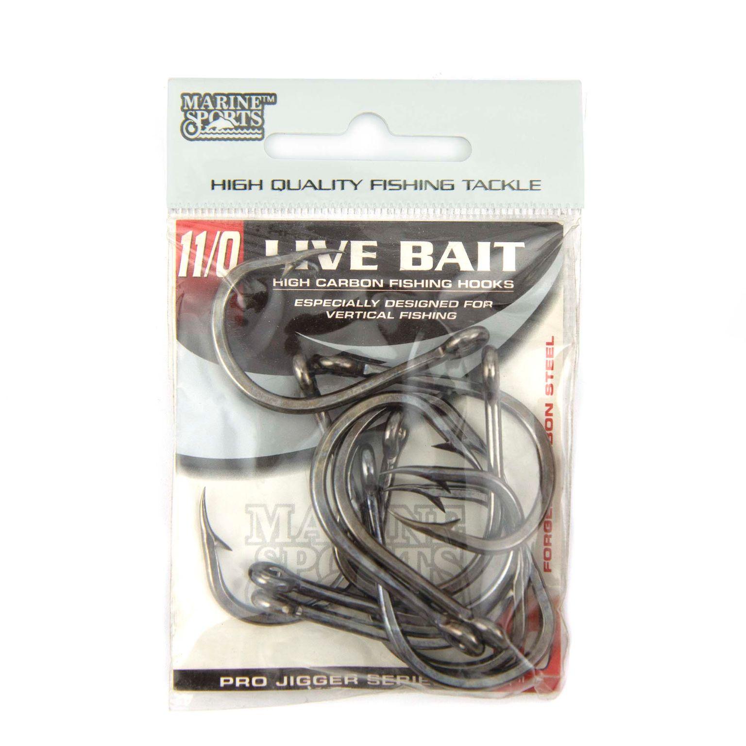 Anzol Live Bait Hook nº 11/0 - 10 unidades  - Artpesca
