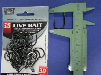 Anzol Live Bait Hook nº 3/0 - 30 unidades  - Artpesca