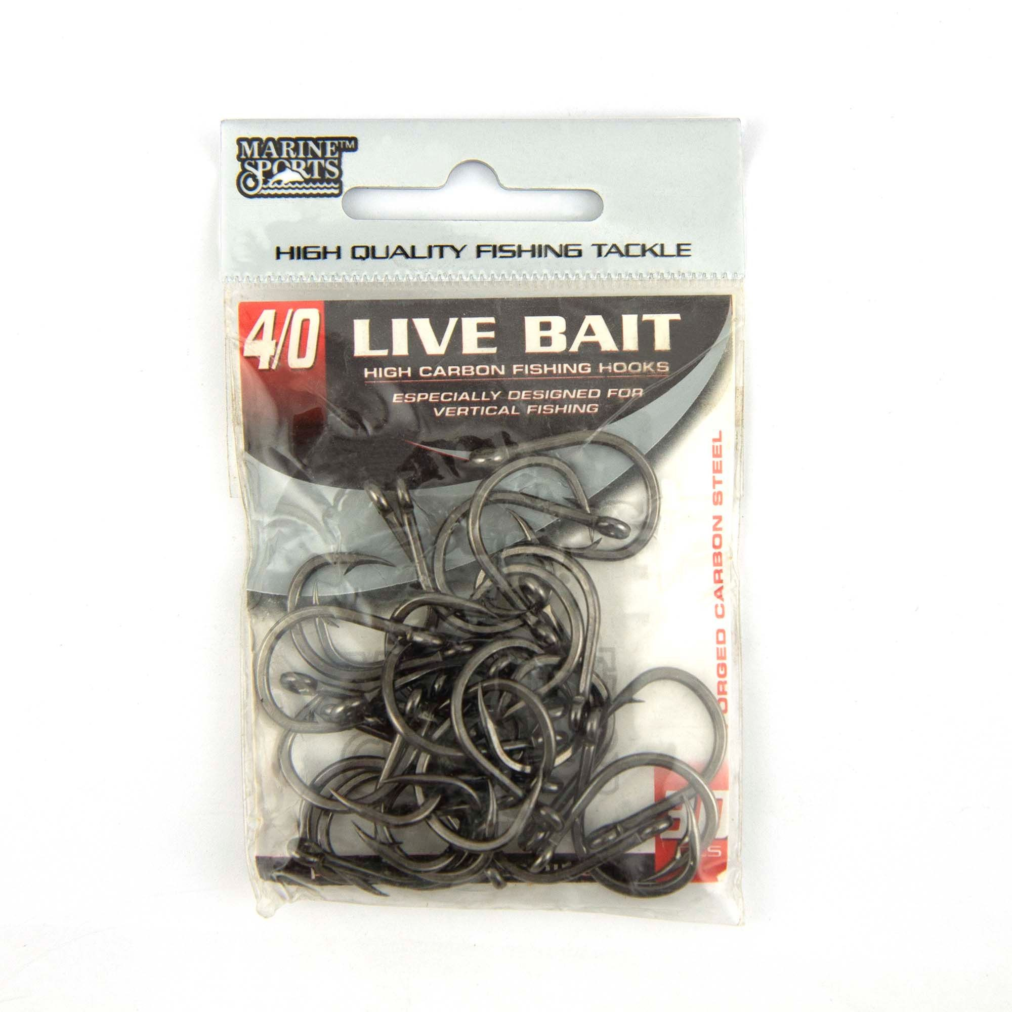 Anzol Live Bait Hook nº 4/0 - 30 unidades  - Artpesca