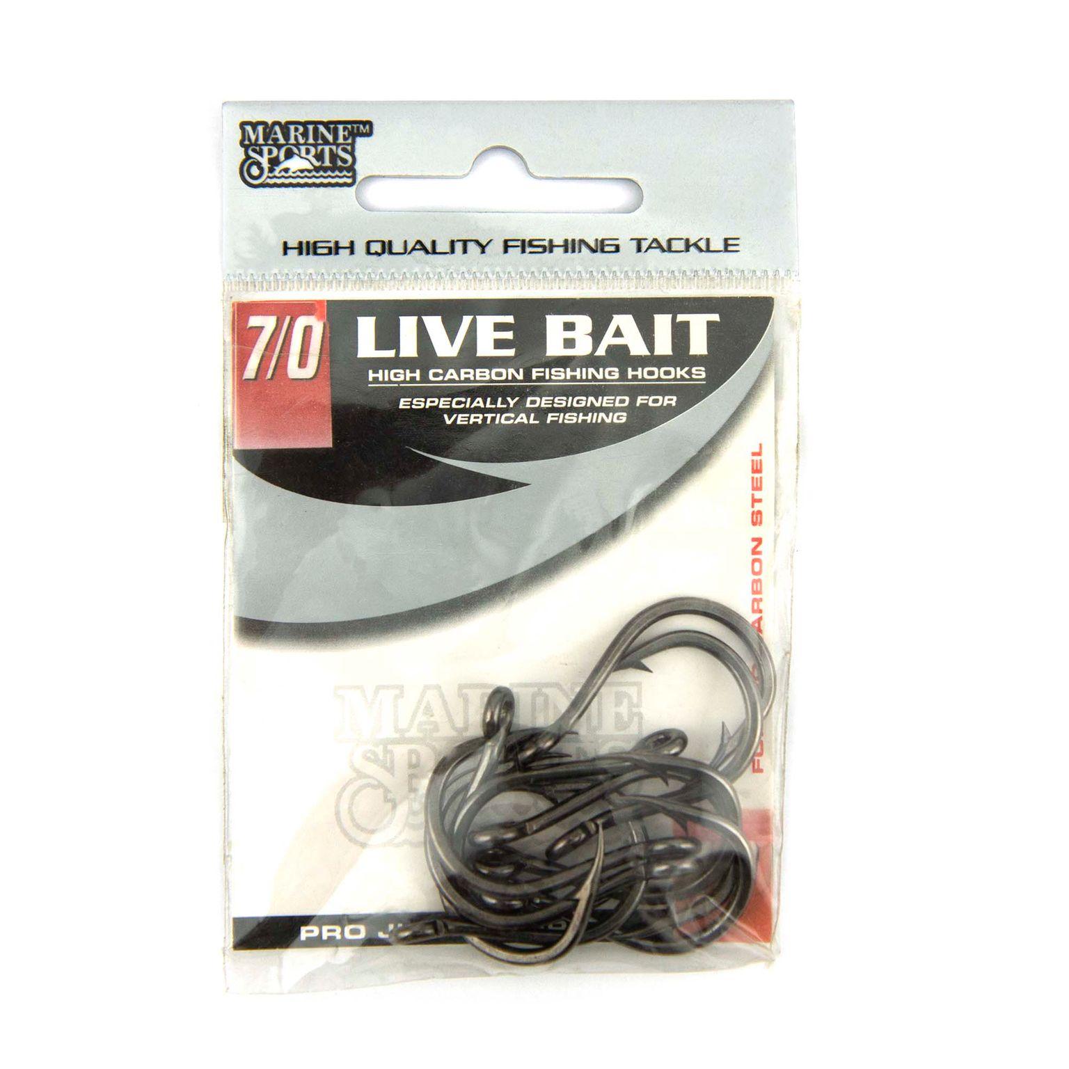 Anzol Live Bait Hook nº 7/0 - 10 unidades  - Artpesca