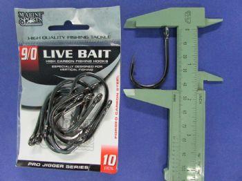 Anzol Live Bait Hook nº 9/0 - 10 unidades  - Artpesca