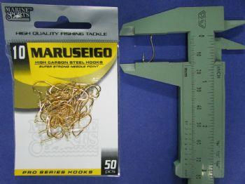 Anzol Maruseigo Gold nº 10 - 50 unidades  - Artpesca