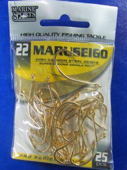 Anzol Maruseigo Gold nº 22 - 25 unidades  - Artpesca
