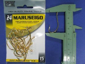 Anzol Maruseigo Gold nº 24 - 15 unidades  - Artpesca